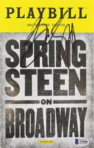 Bruce Springsteen Signed Springsteen On Broadway Playbill BAS #A70386