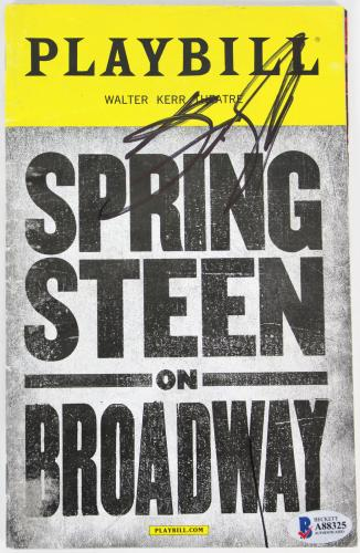 Bruce Springsteen Signed Springsteen On Broadway Playbill BAS #A88325