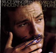 Bruce Springsteen Signed The Wild Innocent & E-Street Shuffle Album Cover PSA