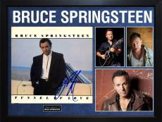 Bruce Springsteen Signed Tunnel Album Cover Display AFTAL UACC RD COA PSA