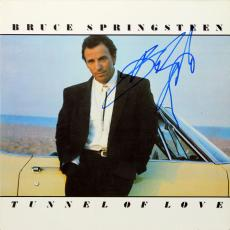Bruce Springsteen Signed Tunnel of Love Album Cover W/ Vinyl BAS #A00301