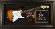 Bruce Springsteen Autographed Framed Guitar with Little Stev