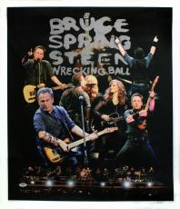 Bruce Springsteen The Boss 24x28 Canvas Giclee Signed Autographed PSA DNA U05924