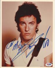 BRUCE SPRINGSTEEN (The Boss) Signed 8 x 10 PHOTO with PSA LOA