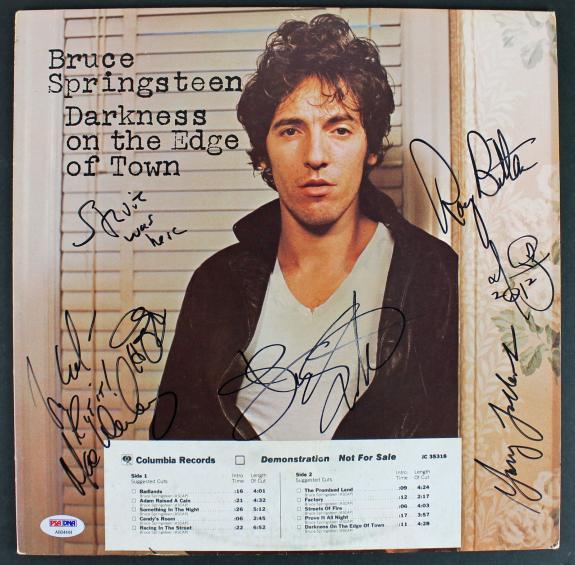 Bruce Springsteen & The E Street Band Signed Album Cover W/ Vinyl PSA #AB04444