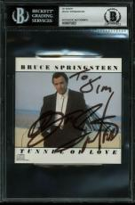"Bruce Springsteen ""To Jim"" Signed Tunnel Of Love CD Cover BAS Slabbed"