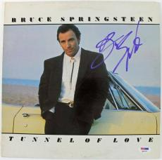 Bruce Springsteen Tunnel Of Love Signed Album Cover W/ Vinyl Psa/dna #q02554