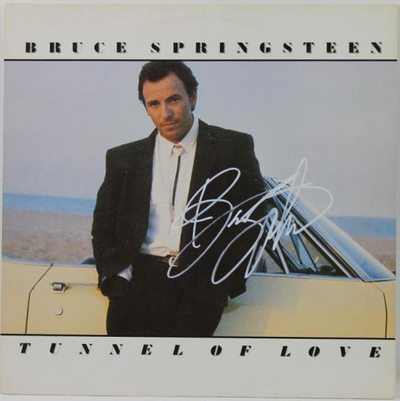 Bruce Springsteen Tunnel Of Love Signed Album Cover W/ Vinyl PSA/DNA #X01263
