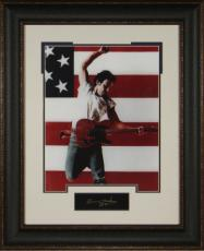 Bruce Springsteen unsigned 11x14 Photo Engraved Signature Series Leather Framed