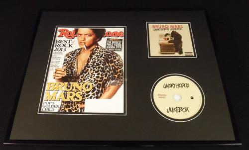 Bruno Mars 16x20 Framed 2013 Rolling Stone & Unorthodox Jukebox CD Display