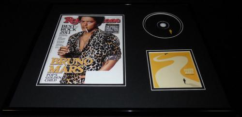 Bruno Mars 16x20 Framed 2013 Doo Wops & Hooligans CD & Rolling Stone Display