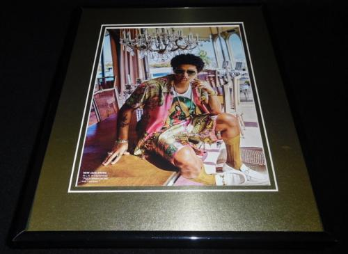 Bruno Mars 2016 Framed 11x14 Photo Display