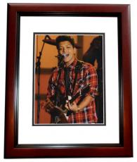 Bruno Mars Autographed Concert 11x14 Photo MAHOGANY CUSTOM FRAME