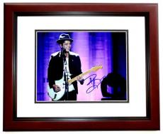 Bruno Mars Signed - Autographed 24K Magic Singer 11x14 inch Photo MAHOGANY CUSTOM FRAME - Guaranteed to pass PSA or JSA