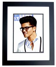 Bruno Mars Signed - Autographed Singer - Songwriter 8x10 inch Photo BLACK CUSTOM FRAME - Guaranteed to pass PSA/DNA or JSA