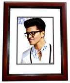 Bruno Mars Signed - Autographed Singer - Songwriter 8x10 inch Photo MAHOGANY CUSTOM FRAME - Guaranteed to pass PSA/DNA or JSA