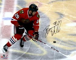 Bryan Bickell Chicago Blackhawks Autographed 16'' x 20'' On Logo Photograph - Mounted Memories