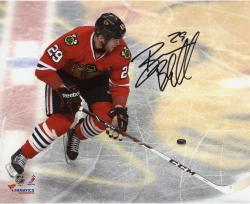 Bryan Bickell Chicago Blackhawks Autographed 8'' x 10'' Logo Photograph - Mounted Memories