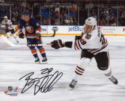 "Bryan Bickell Chicago Blackhawks Autographed 8"" x 10"" White Uniform Shot Photograph"