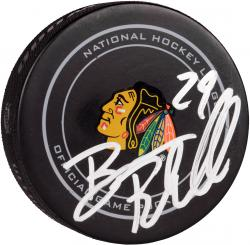 Bryan Bickell Chicago Blackhawks Autographed Official Game Puck - Mounted Memories