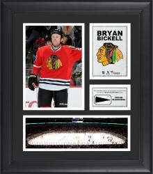 """Bryan Bickell Chicago Blackhawks Framed 15"""" x 17"""" Collage with Piece of Game-Used Puck"""