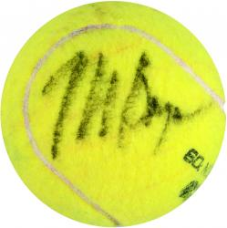 Bob & Mike Bryan Dual Autographed US Open Logo Tennis Ball