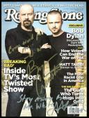 Bryan Cranston & Aaron Paul Breaking Bad Signed Rolling Stone Mag BAS #D43212