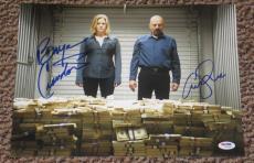 Bryan Cranston Anna Gunn Signed 11x14 Photo Autograph Breaking Bad Psadna W94480