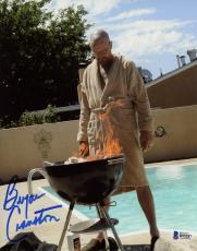 "Bryan Cranston Autographed 8"" x 10"" Breaking Bad Burning Barbecue Photograph - Beckett COA"