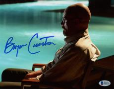 """Bryan Cranston Autographed 8"""" x 10"""" Breaking Bad Sitting by Pool Photograph - Beckett COA"""