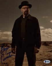 """Bryan Cranston Autographed 8"""" x 10"""" Breaking Bad Standing in Desert With Hat on Photograph - Beckett COA"""