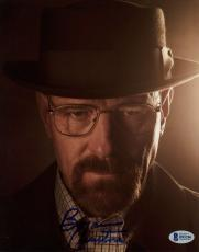 """Bryan Cranston Autographed 8"""" x 10"""" Breaking Bad Up Close With Hat on Photograph - Beckett COA"""
