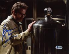 "Bryan Cranston Autographed 8"" x 10"" Breaking Bad - Wearing Jacket and Glasses Photograph - Beckett COA"