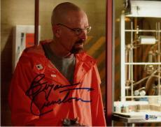 "Bryan Cranston Autographed 8"" x 10"" Breaking Bad Wearing Orange Jumpsuit Photograph - Beckett COA"