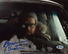 "Bryan Cranston Autographed 8"" x 10"" Driving Car in Snow Photograph - Beckett COA"