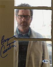 "Bryan Cranston Autographed 8"" x 10"" Looking Through Window Photograph - Beckett COA"