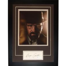 "Bryan Cranston Autographed Breaking Bad (Walter White) ""Signature Series"" Frame – JSA"