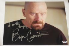Bryan Cranston Signed 11x14 Photo Autograph Proof Inscription Look Psa B