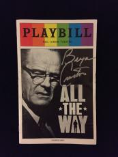 Bryan Cranston Signed All The Way Playbill