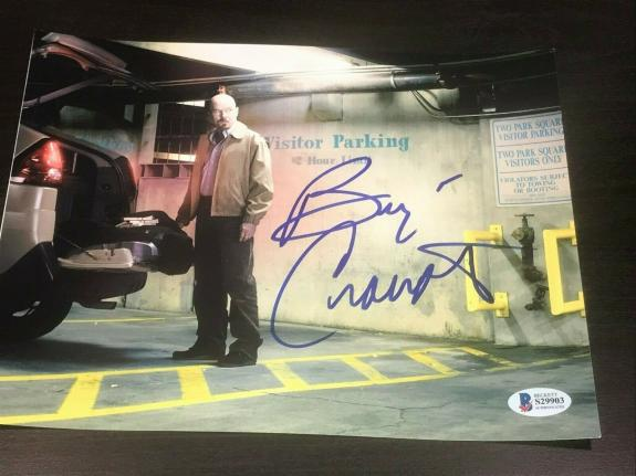 BRYAN CRANSTON SIGNED AUTOGRAPH 8x10 PHOTO BREAKING BAD PHOTO BECKETT AUTO X1