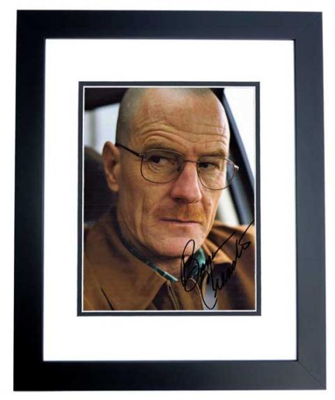 Bryan Cranston Signed - Autographed Breaking Bad - Walter White 8x10 inch Photo BLACK CUSTOM FRAME - Guaranteed to pass PSA/DNA or JSA