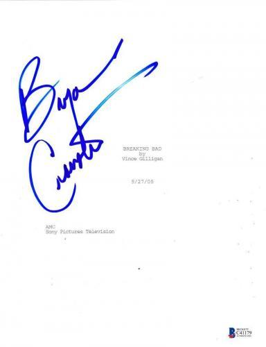 Bryan Cranston Signed Breaking Bad Pilot Ep Script Authentic Autograph Bas Coa