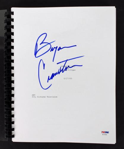 Bryan Cranston Signed Breaking Bad TV Pilot Script PSA/DNA #AC17070