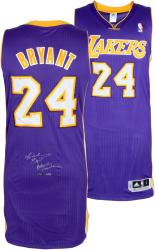 Kobe Bryant Los Angeles Lakers Autographed adidas Swingman Authentic Jersey with Black Mamba Inscription-Limited Edition of 124