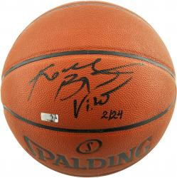 Kobe Bryant Los Angeles Lakers Autographed Spalding Indoor Outdoor Basketball with Vino Inscription - Mounted Memories