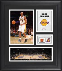 BRYANT, KOBE FRAMED (LAKERS) COLLAGE W/ GU BALL - Mounted Memories