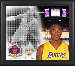 "Kobe Bryant Los Angeles Lakers Framed 15"" x 17"" Mosaic Collage with Team-Used Basketball-Limited Edition of 99"
