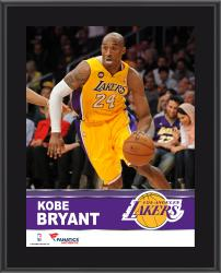 Kobe Bryant Los Angeles Lakers Sublimated 10.5'' x 13'' Plaque - Mounted Memories