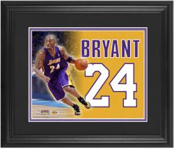 Kobe Bryant Los Angeles Lakers Framed 12'' x 14'' Jersey Number Collage - Mounted Memories