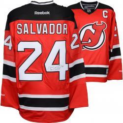 Bryce Salvador New Jersey Devils Autographed Red Reebok Premier Jersey